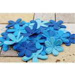 Prima - E Line - Celebrations Collection - Flower Embellishments - Bright Blue