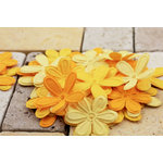 Prima - E Line - Celebrations Collection - Flower Embellishments - Bright Yellow