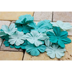 Prima - E Line - Bermuda Breeze Collection - Flower Embellishments - Aqua