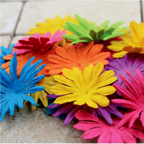 Prima - E Line - Confetti Cake Collection - Flower Embellishments - Mixed Bright