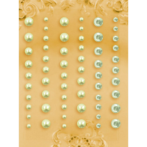 Prima - E Line - Self Adhesive Pearls and Crystals - Bling - Assortment 5