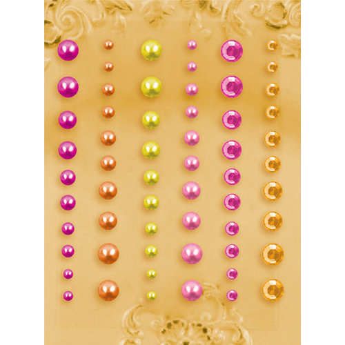 Prima - E Line - Self Adhesive Pearls and Crystals - Bling - Assortment 22