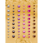 Prima - E Line - Self Adhesive Pearls and Crystals - Bling - Assortment 25