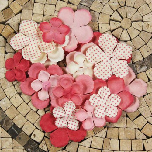 Prima - E Line - Flower Embellishments - Pink Mix 1