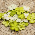 Prima - E Line - Flower Embellishments - Green Mix 1, CLEARANCE