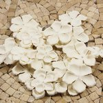 Prima - E Line - Flower Embellishments - White Mix 1