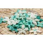 Prima - E Line - Flower Embellishments - Aqua Mix 2, CLEARANCE