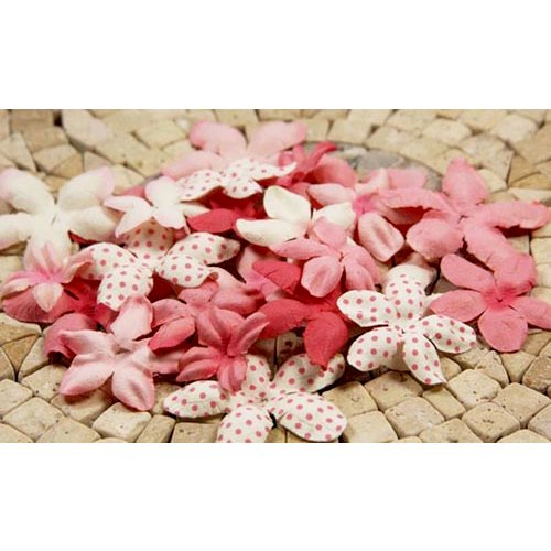 Prima - E Line - Flower Embellishments - Pink Mix 2, CLEARANCE