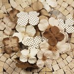 Prima - E Line - Flower Embellishments - Brown Mix 3, CLEARANCE
