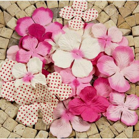 Prima - E Line - Flower Embellishments - Fuchsia Mix 3, CLEARANCE