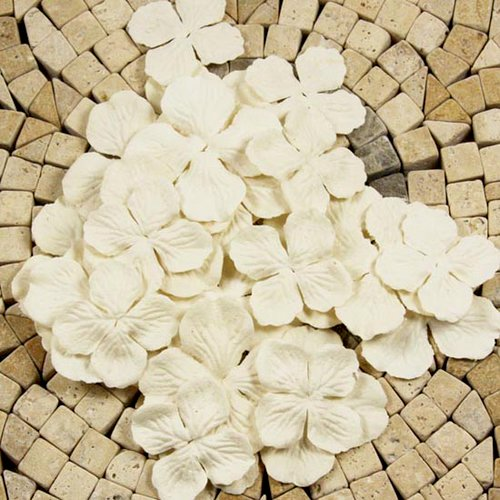 Prima - E Line - Flower Embellishments - White Mix 3