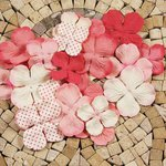 Prima - E Line - Flower Embellishments - Pink Mix 3, CLEARANCE