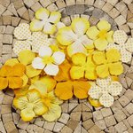 Prima - E Line - Flower Embellishments - Yellow Mix 3