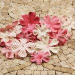 Prima - E Line - Flower Embellishments - Pink Mix 4