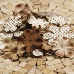 Prima - E Line - Flower Embellishments - Brown Mix 4