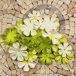 Prima - E Line - Flower Embellishments - Green Mix 4