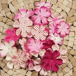 Prima - E Line - Flower Embellishments - Pink Mix 5
