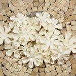 Prima - E Line - Flower Embellishments - White Mix 4, CLEARANCE