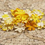 Prima - E Line - Flower Embellishments - Yellow Mix 4, CLEARANCE