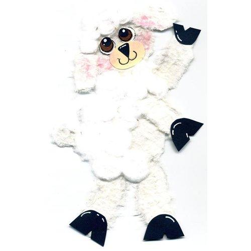 Prima - Little Darlings Collection - Handmade Animal Art - Lamb, CLEARANCE