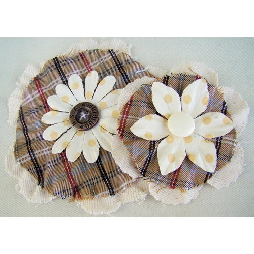 Prima - Prairie Flowers Collection - Fabric Flowers - Kansas, CLEARANCE