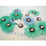 Prima - Daisy Dreams Collection - Flowers - Lagoon