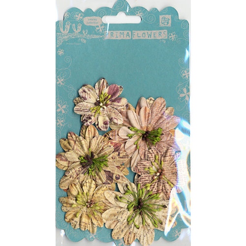 Prima - Artistry Flowers Collection - Flower Trio - Yellow, CLEARANCE