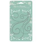 Prima - Say It In Crystals Collection - Self Adhesive Jewel Art - Bling - Swirls - Clear, BRAND NEW