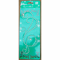 Prima - Say It In Pearls Collection - Self Adhesive Jewel Art - Bling - Swirl 2 - Pearl White