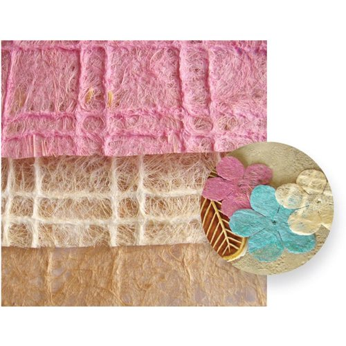 Prima - Natural Obsessions Collection - 8.5 x 11 Handmade Papers and Flowers - Mix 2, CLEARANCE
