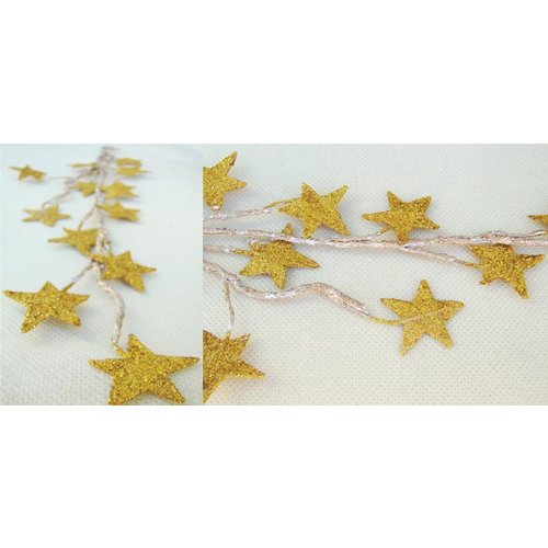 Prima - Galaxy Stars Collection - Glittered Star Vine - Gold