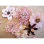 Prima - Wildwood Collection - Wood and Mulberry Flowers - Blush