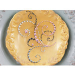 Prima - Say It In Pearls and Crystals Collection - Self Adhesive Jewel Art - Bling - Flourish - Mixed Crystal Pink