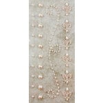 Prima - Say It In Pearls Collection - Self Adhesive Jewel Art - Bling - Border Strips - Cream