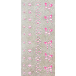 Prima - Say It In Pearls Collection - Self Adhesive Jewel Art - Bling - Border Strips - Pink, BRAND NEW