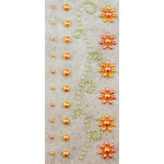Prima - Say It In Pearls Collection - Self Adhesive Jewel Art - Bling - Border Strips - Peach, BRAND NEW