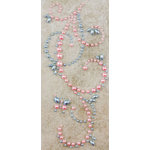 Prima - Say It In Pearls Collection - Self Adhesive Jewel Art - Bling - Butterfly Swirls - Blue and Pink, BRAND NEW