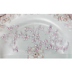 Prima - Say It In Pearls Collection - Self Adhesive Jewel Art - Bling - Leaf Swirls - Cream, CLEARANCE