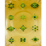 Prima - Say It In Pearls Collection - Self Adhesive Jewel Art - Bling - Flower Centers - Green, BRAND NEW