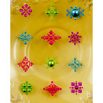 Prima - Say It In Pearls Collection - Self Adhesive Jewel Art - Bling - Flower Centers - Assortment 2, BRAND NEW