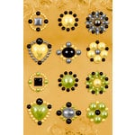 Prima - Say It In Pearls Collection - Self Adhesive Jewel Art - Bling - Flower Centers - Assortment 6 , BRAND NEW