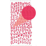 Prima - Textured Alphabet Stickers - Self Adhesive Clear Jewels and Pearls - Peony, BRAND NEW