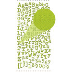 Prima - Textured Alphabet Stickers - Self Adhesive Clear Jewels and Pearls - Lime, BRAND NEW