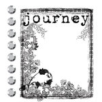 Prima - Clear Acrylic Stamps and Self Adhesive Jewels - Journey