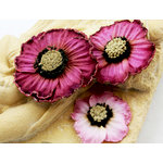 Prima - Parlor Petals Collection - Flower Embellishments - Rouge