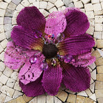 Prima - Homespun Elegance Collection - Flower Embellishments - Dallas