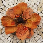 Prima - Homespun Elegance Collection - Flower Embellishments - Pecos