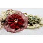 Prima - Jewel Box Collection - Flower Embellishments - Autumn