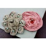 Prima - Romani Rose Collection - Flower Embellishments - Porcelaine, BRAND NEW