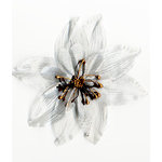 Prima - Tiffany Petals Collection - Flower Embellishments - Single Platinum